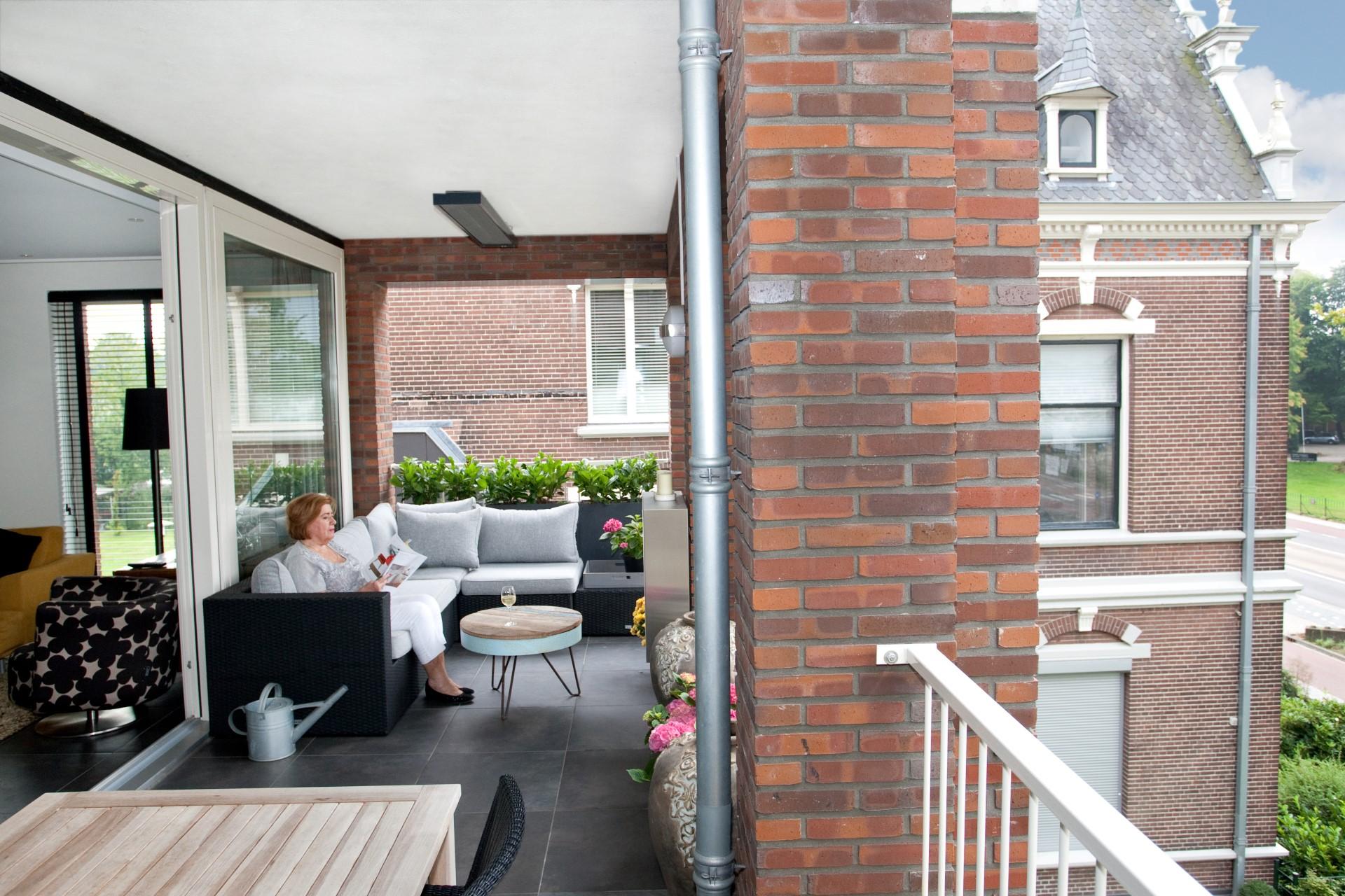 Mijn balkon is geen balkon, maar een verlenging van de woonkamer (Ans)